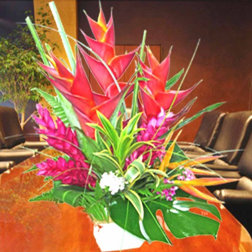 Heliconia Table Arrangement