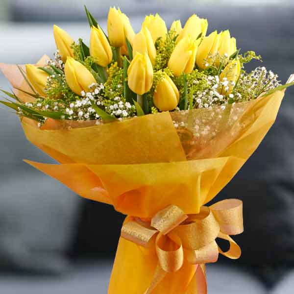 Yellow Tulip Hand Bouquet