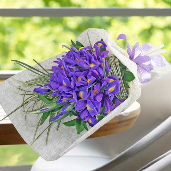 Iris Flowers Hand Bouquet