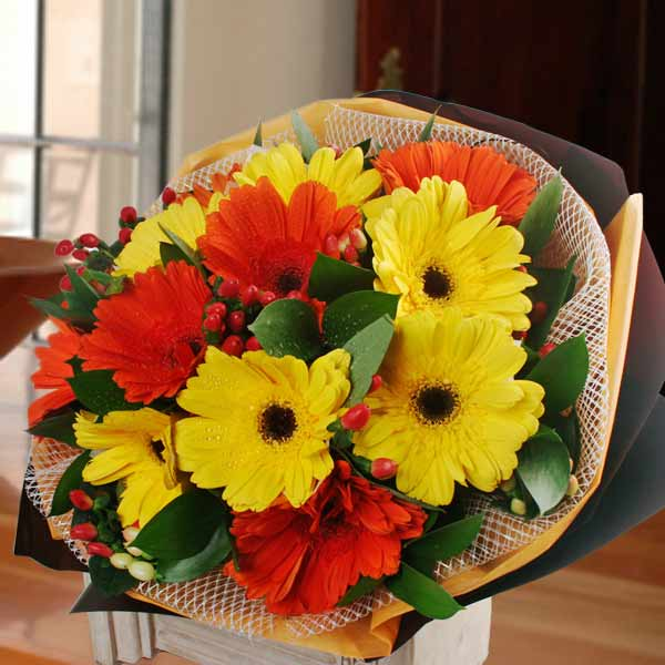 Mixed Gerbera Hand Bouquet