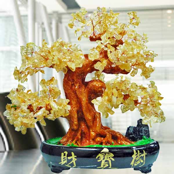 CITRINE Crystal Bonsai Tree 30cm