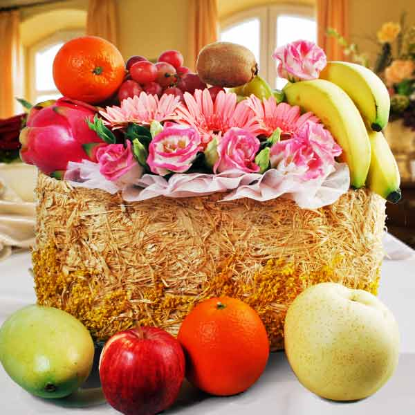 Flowers And Fruits Baskets