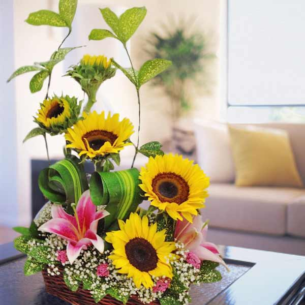 Sunflower Table Arrangement