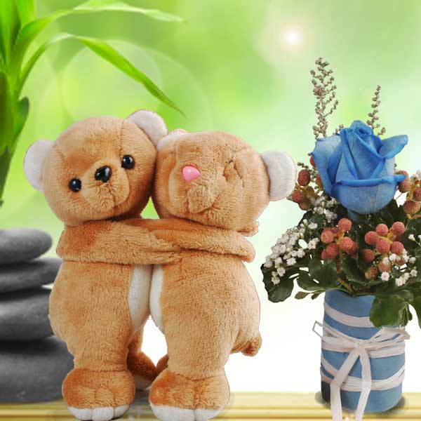 Couple Bear And Rose